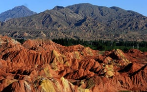 Rainbow mountains: The geological site is being developed for tourism