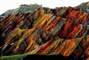 Rainbow mountains: The landform is only found in China