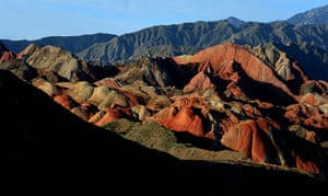 Rainbow mountains: Colourful undulating hills at the Danxia scenic area