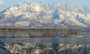 Dal lake, Srinagar, in the Kashmir 'valley'