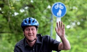 David Cameron cycling