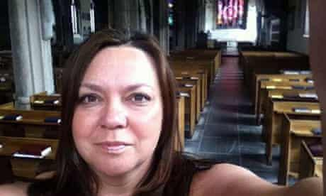 Sarah Greep was rescued after tweeting for help from inside Plymouth's Minster Church of St Andrew.
