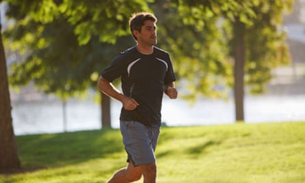 Man jogging in park. Image shot 2011. Exact date unknown.