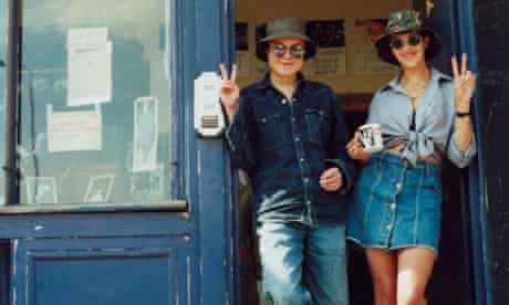 Sarah Lucas and Tracey Emin at their shop