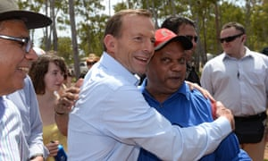 Opposition leader Tony Abbott at the Garma festival.