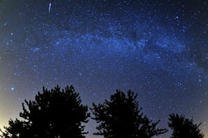 Perseids meteors: Cotswold Water Park near Cirencester, Gloucestershire
