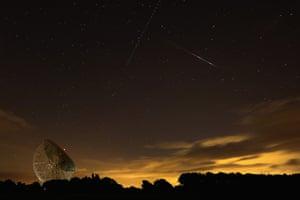 Perseids meteors: The Lovell Radio Telescope at Jodrell Bank, Cheshire
