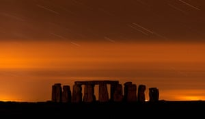 Perseids meteors: Stonehenge, Salisbury Plain