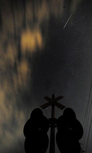 Perseids meteors: Ditto Marina Parkway, Huntsville, Alabama