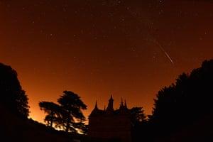 Perseids meteors: Rushton Triangular Lodge in Northamptonshire, UK