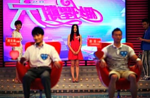 China Valentine's day: 25-year-old Liu Tingting introduces herself during the recording of an epis