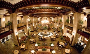 Lobby of the Peabody Hotel in Memphis Tennessee