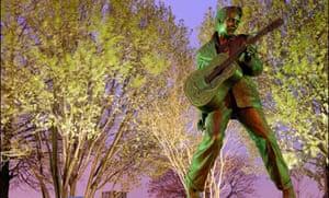 Statue of Elvis on Beale Street