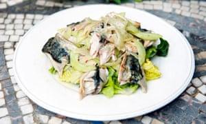 Roast mackerel