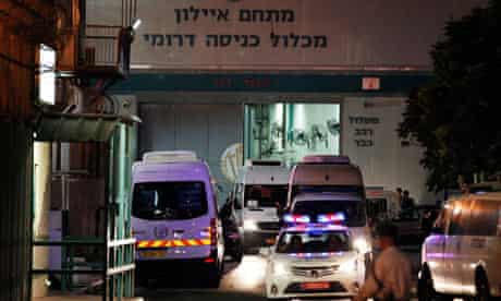Israeli Prison Authority vans carrying Palestinian prisoners