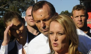 Fiona Scott and Tony Abbott yesterday.