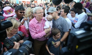 """The Prime Minister Kevin Rudd tours the Brisbane Show know locally as """"The Ekka"""" in Brisbane, Queensland on Wednesday 14th, August 2013."""