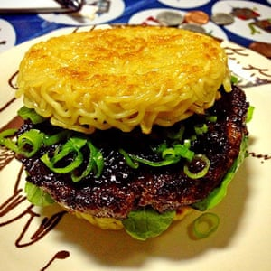 Unhealthy Foods: Ramen Burger