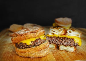 Unhealthy Foods: Cronut Burger