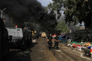 Egyptian camps: Security forces clear a sit-in by supporters of ousted Islamist Pr