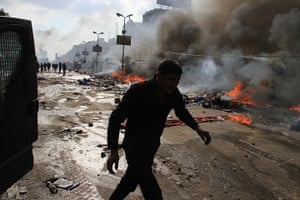 Egyptian camps: Egyptian security forces, backed by armoured cars and bulldozers, moved in