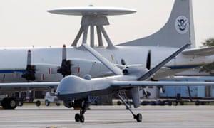 A Predator drone at a US airbase