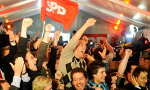 Supporters of Germany's SPD