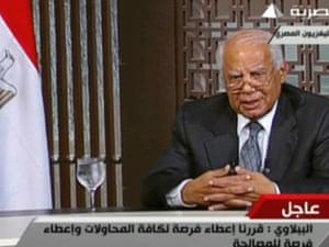 Hazem El Beblawi addresses the nation