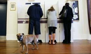 Voters go to the polls to vote in 2010.