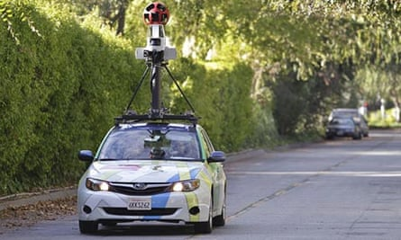 A Google Street View car in California