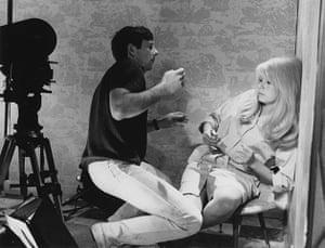 Polanski: Roman Polanski working with Catherine Deneuve on the set of Repulsion