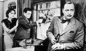 Naunton Wayne as Caldicott and Basil Radford as Charters in Alfred Hitchcock's 1938 film The Lady Vanishes.