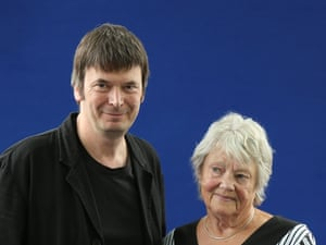 Ian Rankin, Scottish crime writer, creator of Inspector Rebus, with Maj Sjowall, Swedish crime writer of the 1960s and 1970s whose work inspired the current Scandinavian crime writing boom.
