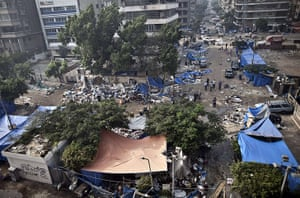 Egypt after crackdown: The deserted protest camp in Rabaa al-Adawiya square after the bloody crackdown on Morsi supporters