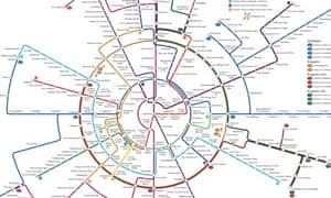 Berlin transport map. Design by Dr Max Roberts