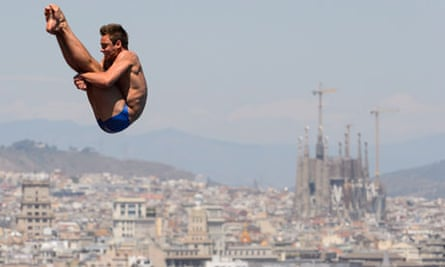 Diver Tom Daley, competing at the world championships in Barcelona, got an A in his Spanish A-level