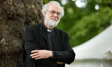 Former archbishop of Canterbury Rowan Williams at the Edinburgh international book festival