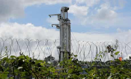 Cuadrilla's drilling site in Balcombe: large-scale anti-fracking protests are expected this weekend.