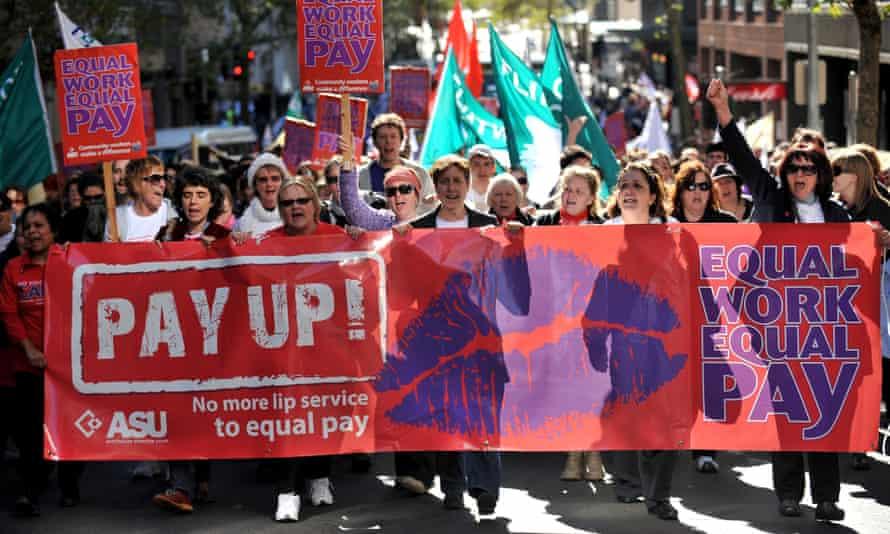 Equal pay rally, 2010