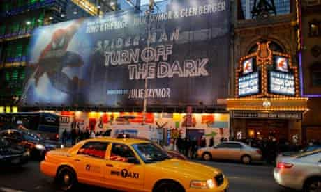 """Outside """"Spider - man: Turn Off The Dark"""" On Broadway"""