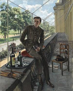 Rex Whistler: Self Portrait in Uniform 1940 by Rex Whistler