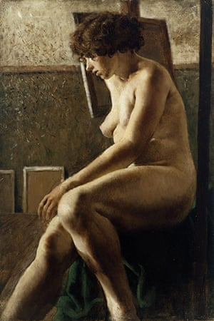Rex Whistler: Female Figure Seated by Rex Whistler