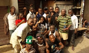 Adepitan in Nigeria filming Journey of a Lifetime.