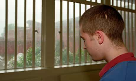 A youth in a young offender institution