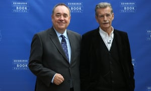 First citizens ... Alex Salmond (left), and William McIlvanney