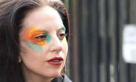 Poker face: Lady Gaga in Los Angeles last week.