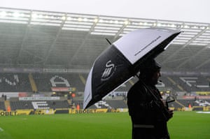 Swansea v United: The weather worsens before the Swansea City versus Manchester United match