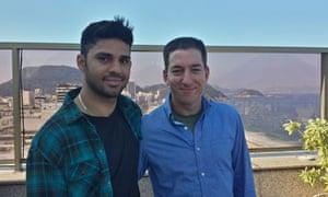 David Miranda (left) and Glenn Greenwald