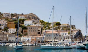 Hydra, Greece. Greek tourism receipts jumped 21% in June.