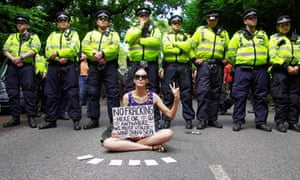 Anti-fracking campaigners in Balcombe
